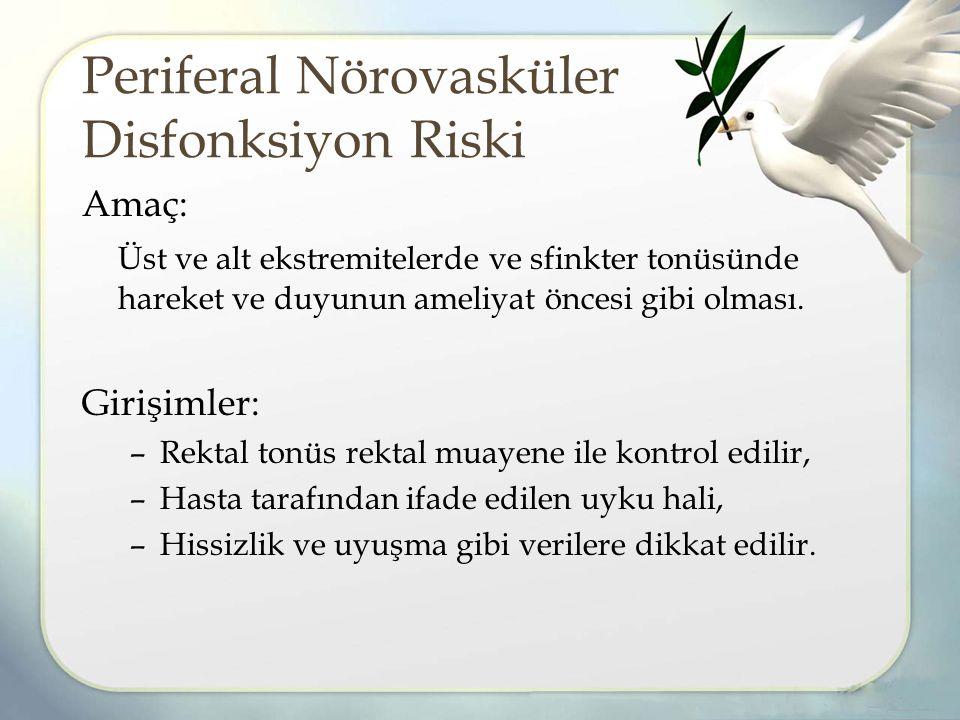 Periferal Nörovasküler Disfonksiyon Riski