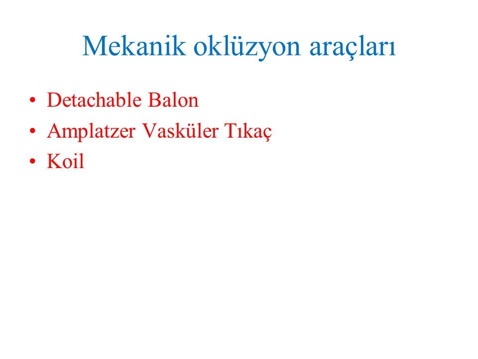 Mekanik oklüzyon araçları