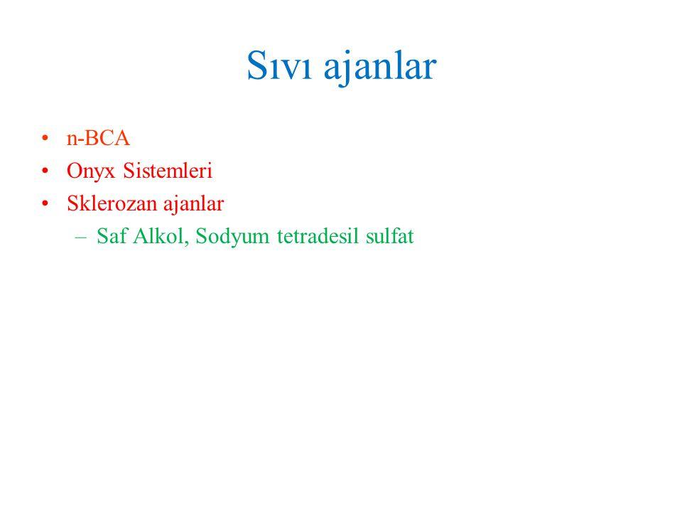 Sıvı ajanlar n-BCA Onyx Sistemleri Sklerozan ajanlar