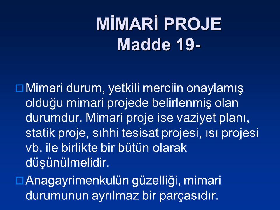 MİMARİ PROJE Madde 19-