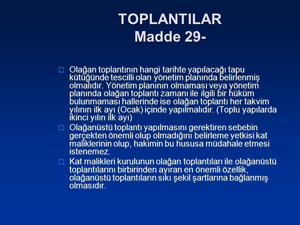 TOPLANTILAR Madde 29-