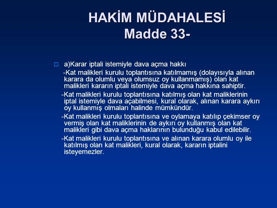HAKİM MÜDAHALESİ Madde 33-