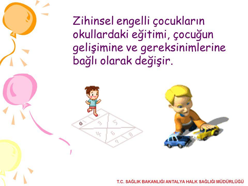 Zihinsel engelli çocukların okullardaki eğitimi, çocuğun gelişimine ve gereksinimlerine bağlı olarak değişir.
