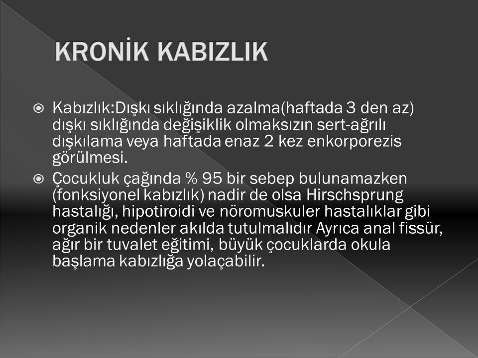 KRONİK KABIZLIK