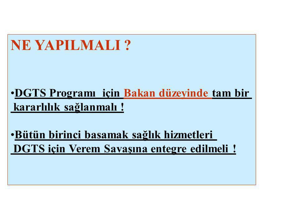 NE YAPILMALI DGTS Programı için Bakan düzeyinde tam bir
