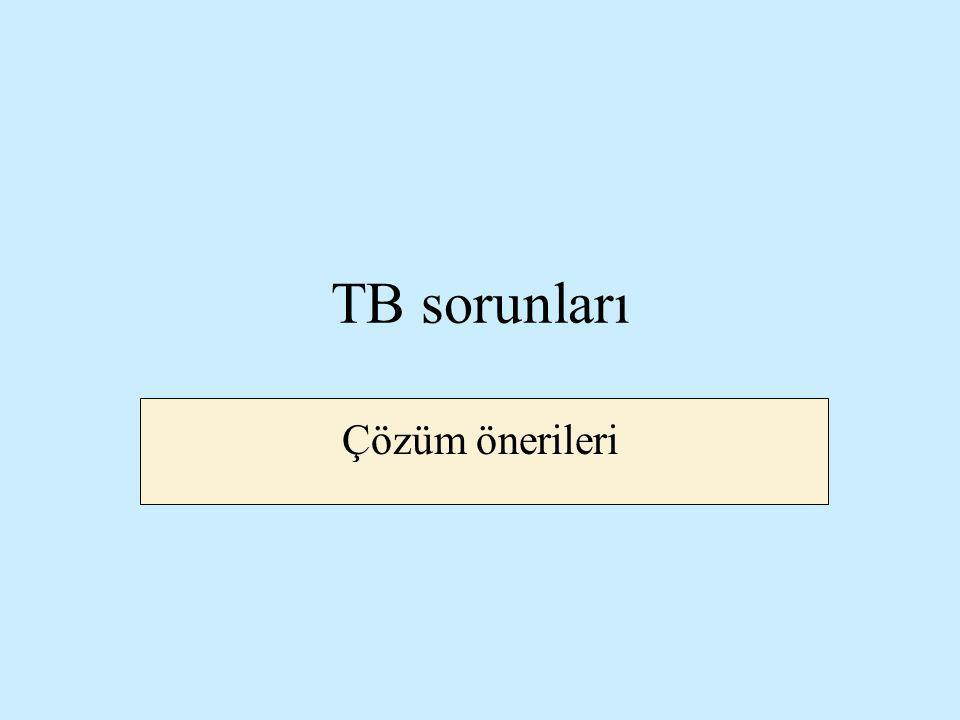 TB sorunları Çözüm önerileri