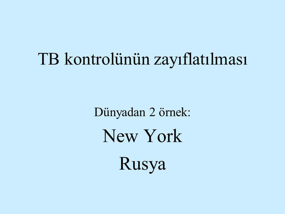 TB kontrolünün zayıflatılması