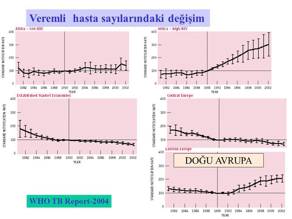 Veremli hasta sayılarındaki değişim