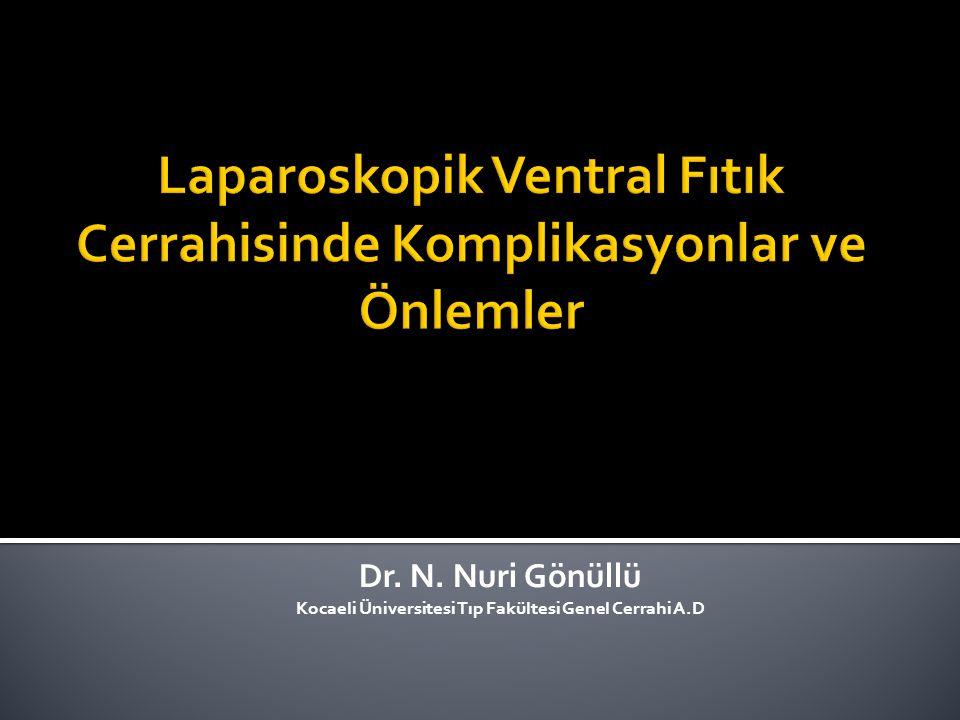 Laparoskopik Ventral Fıtık Cerrahisinde Komplikasyonlar ve Önlemler