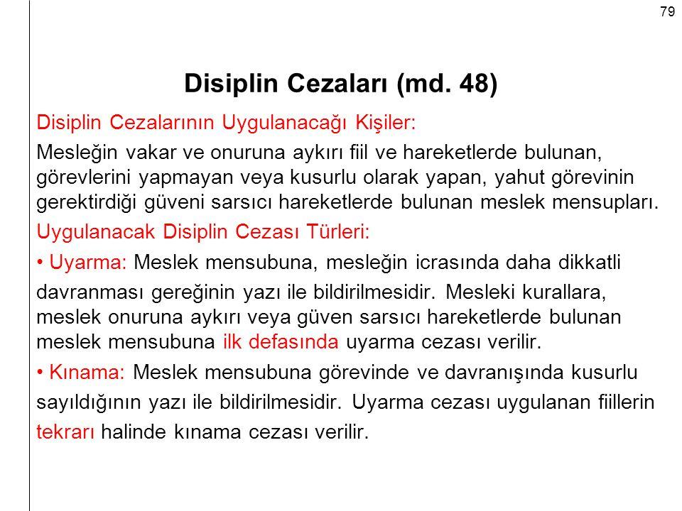 Disiplin Cezaları (md. 48)