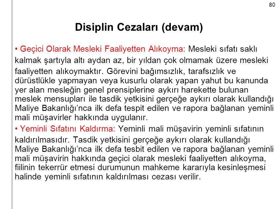 Disiplin Cezaları (devam)