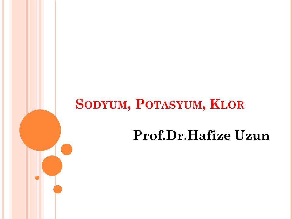 Sodyum, Potasyum, Klor Prof.Dr.Hafize Uzun