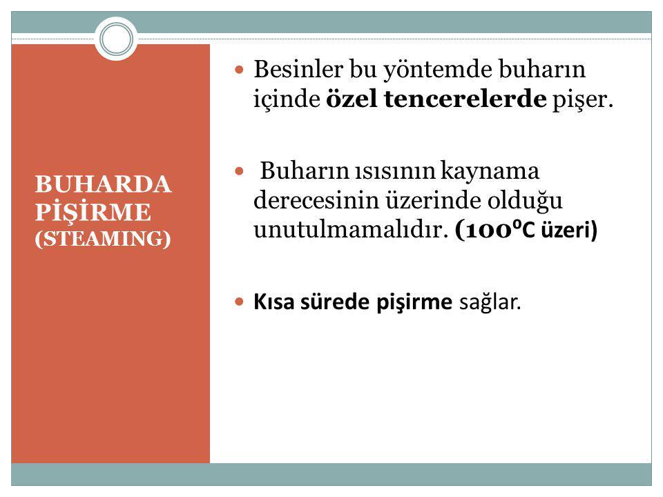 BUHARDA PİŞİRME (STEAMING)
