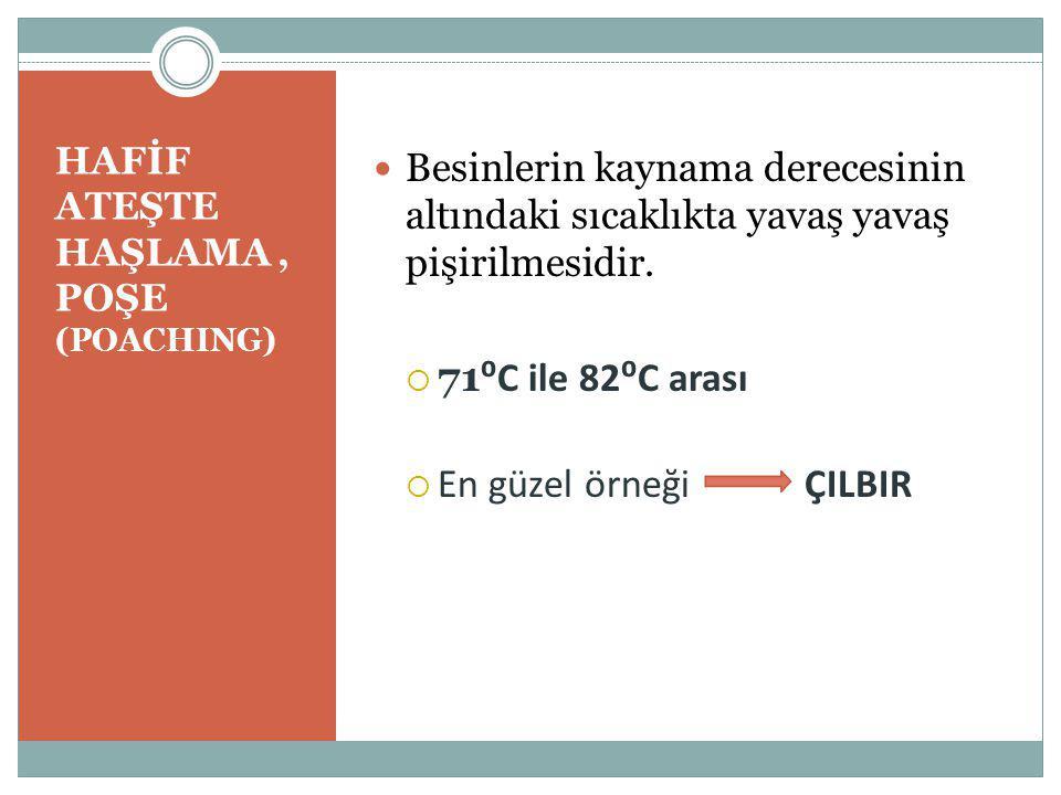 HAFİF ATEŞTE HAŞLAMA , POŞE (POACHING)
