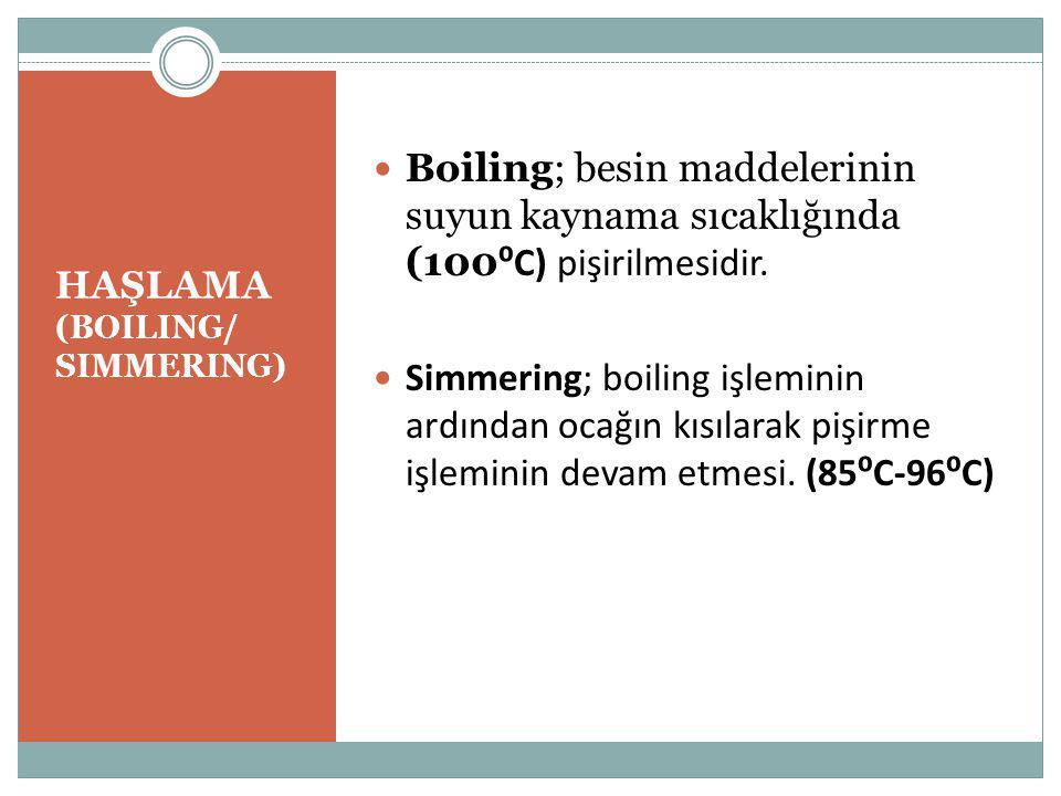 HAŞLAMA (BOILING/ SIMMERING)