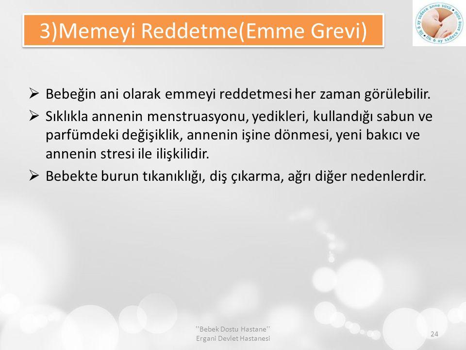 3)Memeyi Reddetme(Emme Grevi)