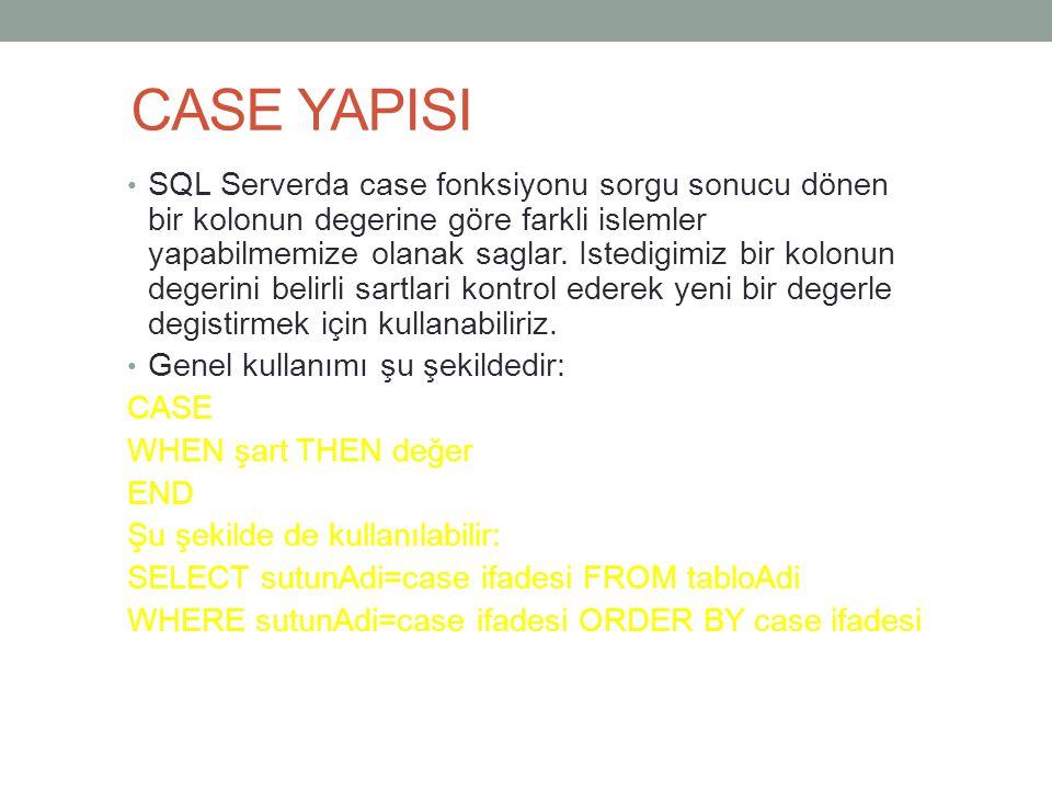 CASE YAPISI