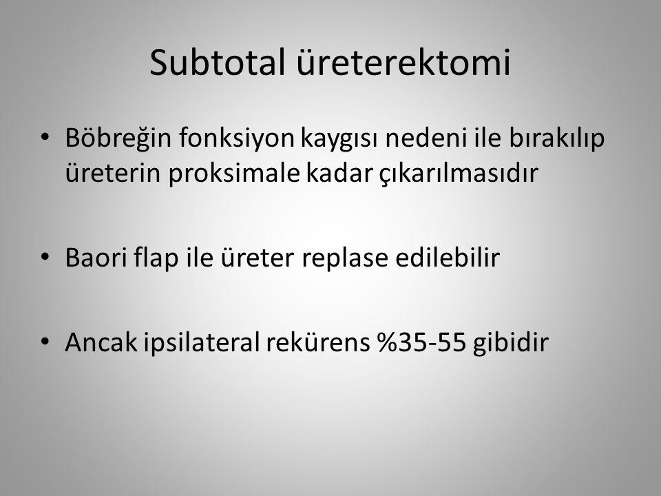 Subtotal üreterektomi
