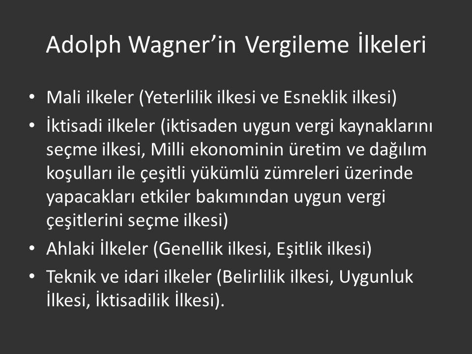 Adolph Wagner'in Vergileme İlkeleri