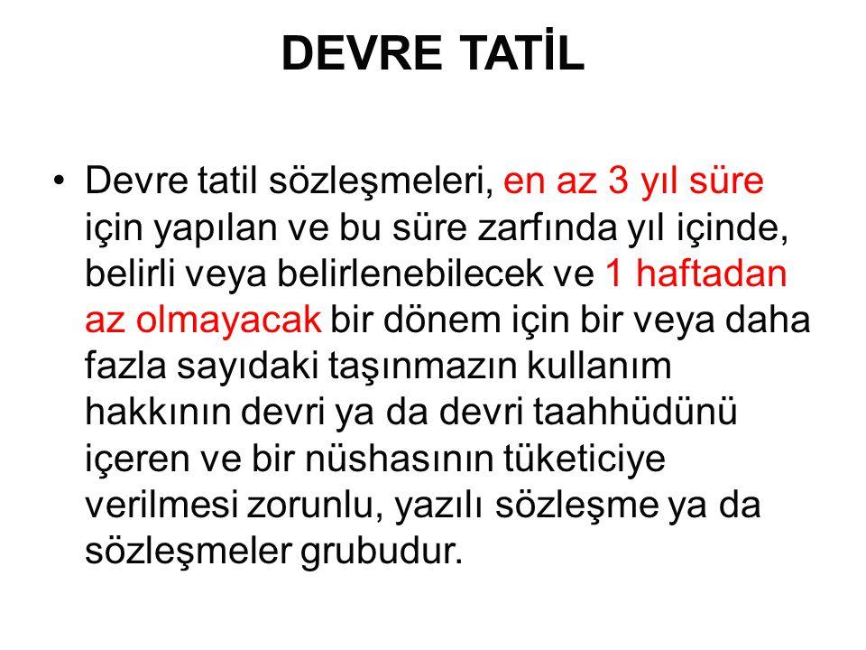 DEVRE TATİL