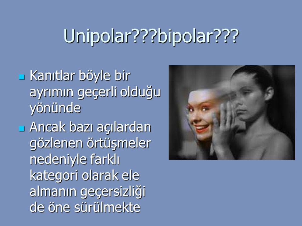 Unipolar bipolar Kanıtlar böyle bir ayrımın geçerli olduğu yönünde.