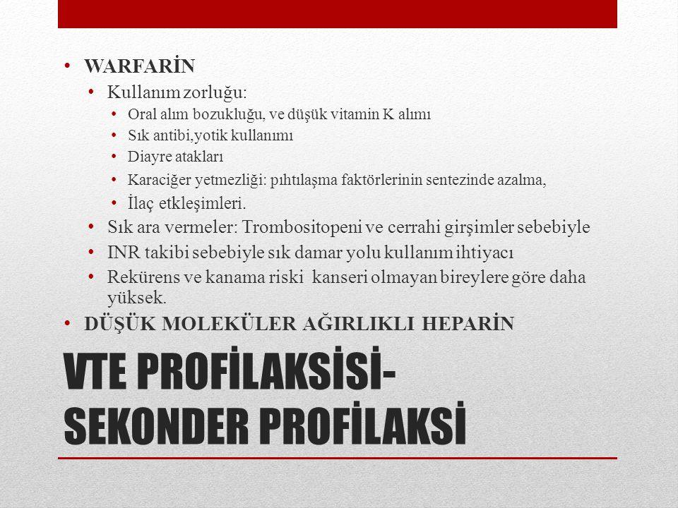 VTE PROFİLAKSİSİ-SEKONDER PROFİLAKSİ