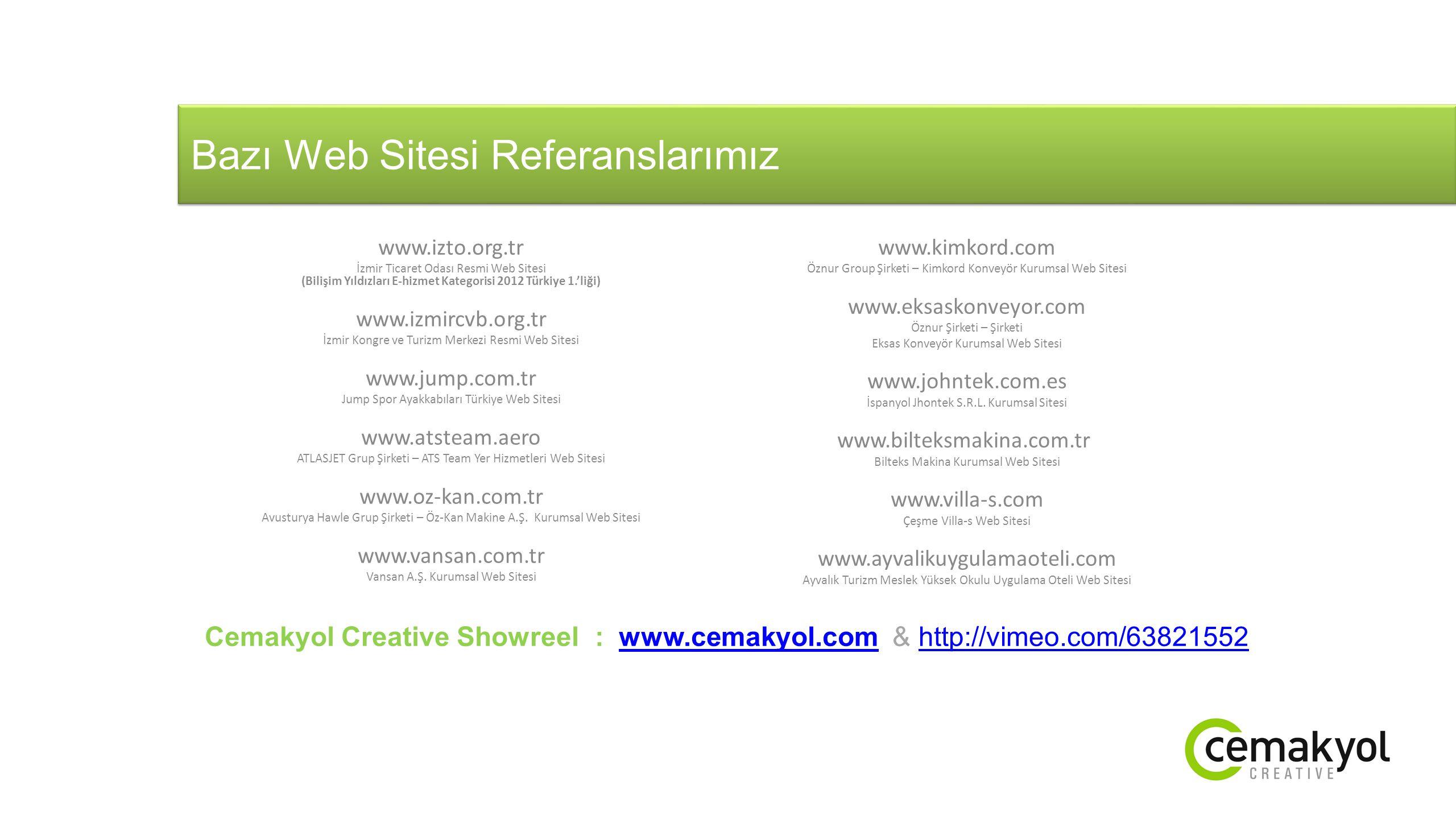 Bazı Web Sitesi Referanslarımız