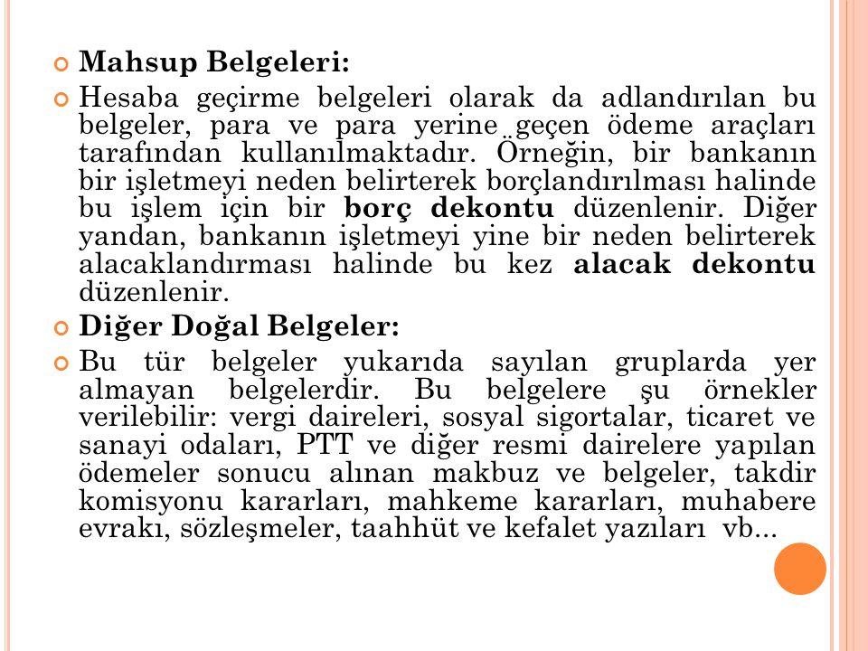 Mahsup Belgeleri: