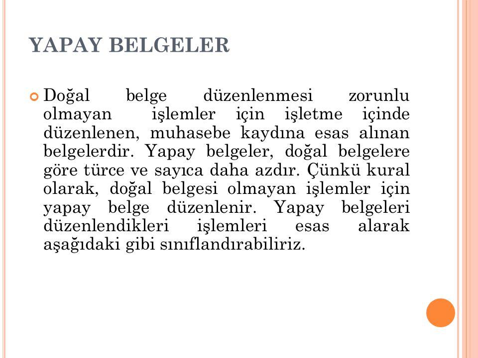 YAPAY BELGELER