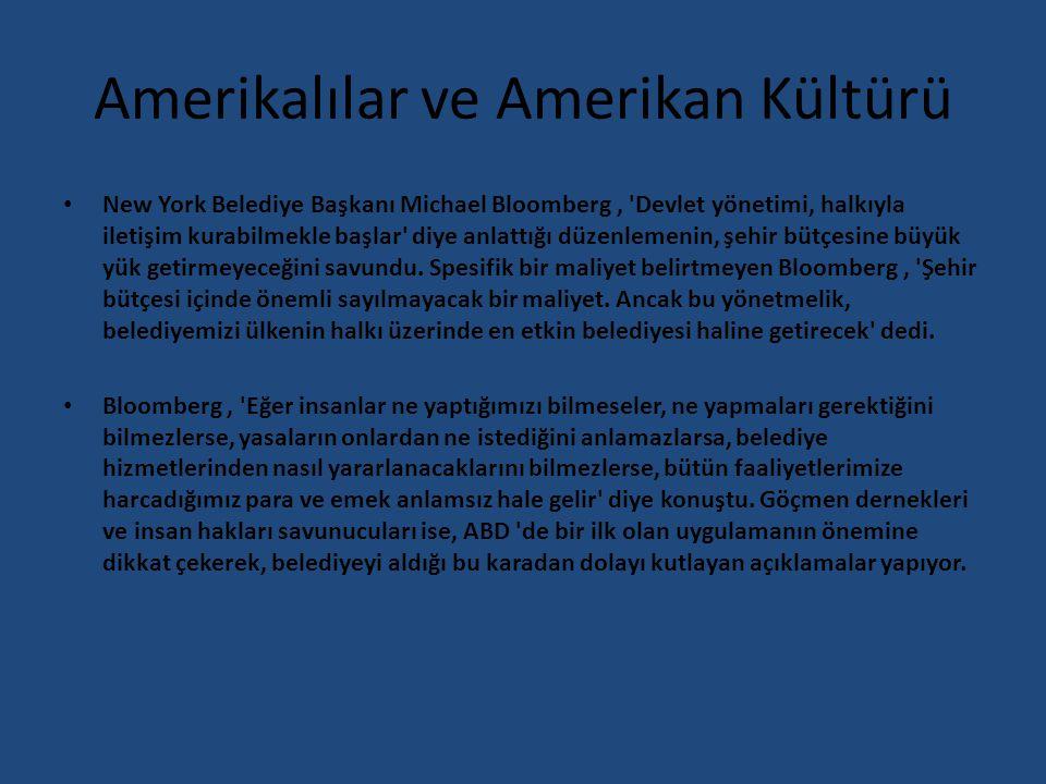 Amerikalılar ve Amerikan Kültürü