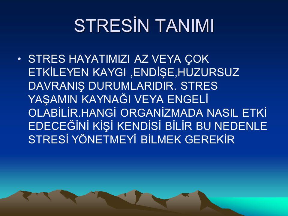 STRESİN TANIMI