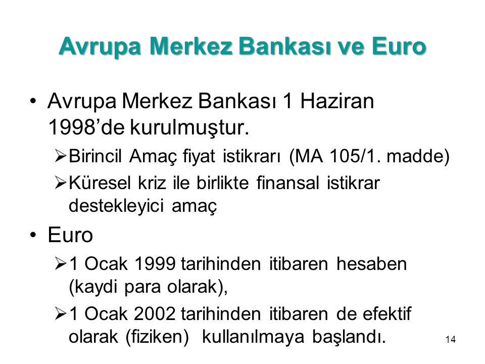 Avrupa Merkez Bankası ve Euro