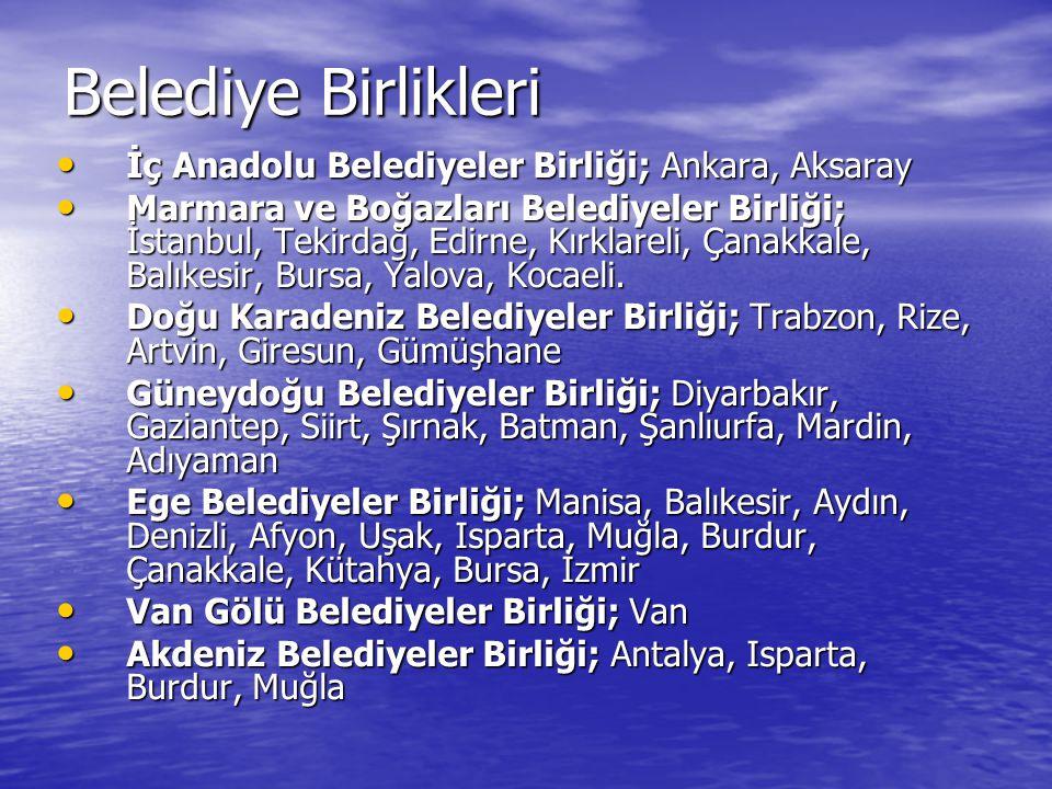 Belediye Birlikleri İç Anadolu Belediyeler Birliği; Ankara, Aksaray