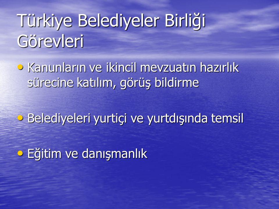 Türkiye Belediyeler Birliği Görevleri