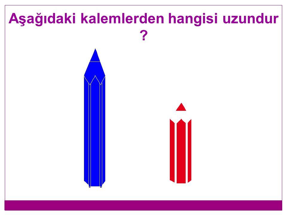 Aşağıdaki kalemlerden hangisi uzundur