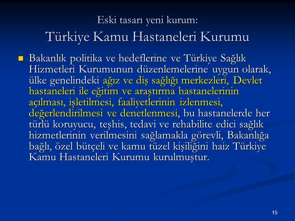 Eski tasarı yeni kurum: Türkiye Kamu Hastaneleri Kurumu