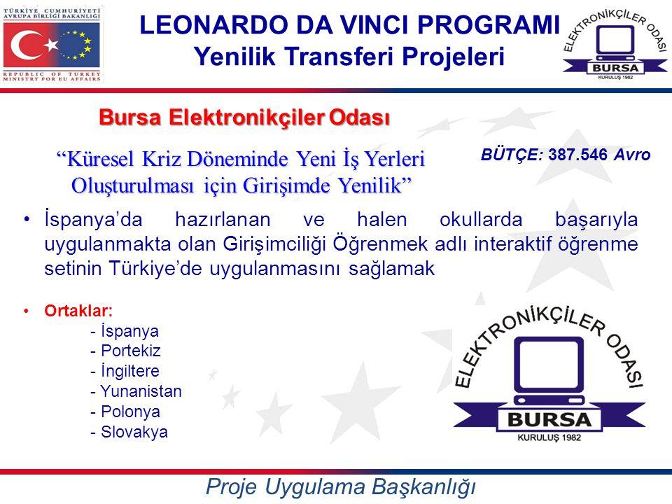 LEONARDO DA VINCI PROGRAMI Yenilik Transferi Projeleri