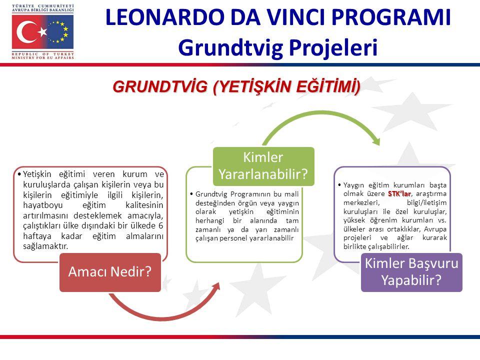 LEONARDO DA VINCI PROGRAMI GRUNDTVİG (YETİŞKİN EĞİTİMİ)