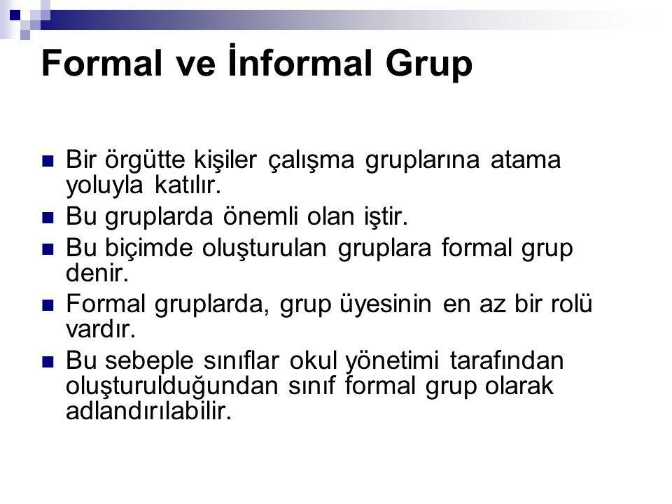 Formal ve İnformal Grup