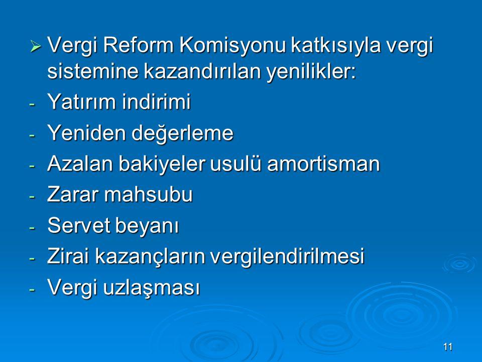 Vergi Reform Komisyonu katkısıyla vergi sistemine kazandırılan yenilikler: