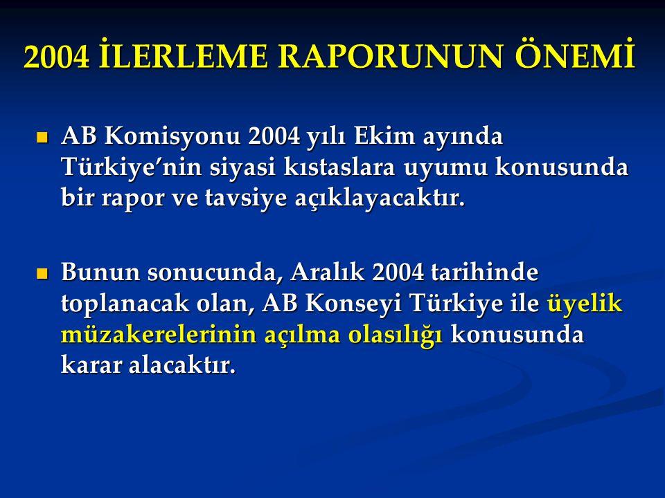 2004 İLERLEME RAPORUNUN ÖNEMİ