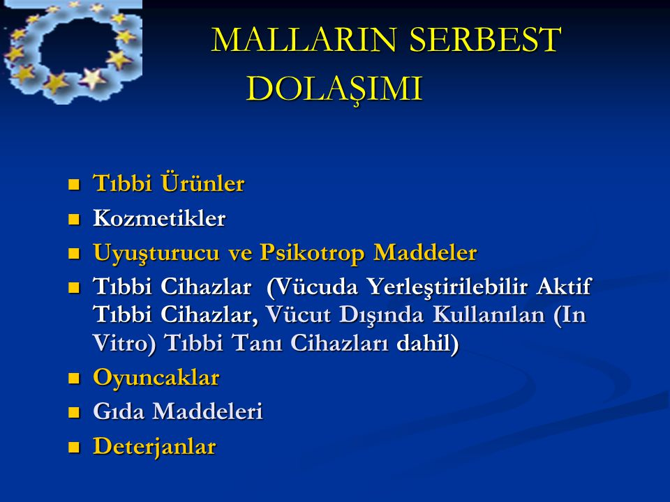 MALLARIN SERBEST DOLAŞIMI