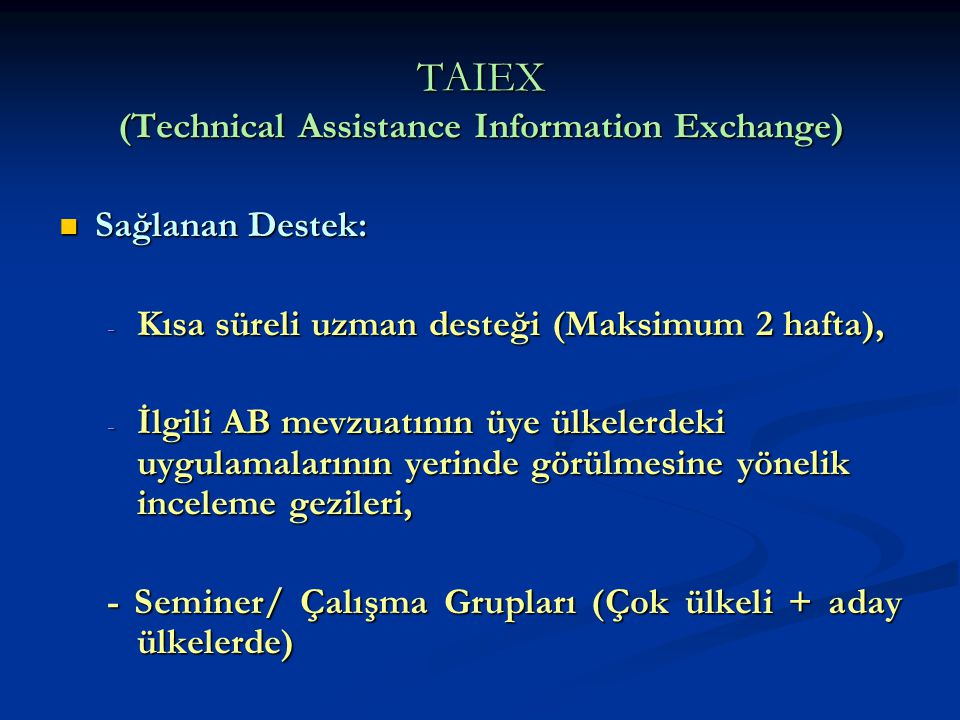 TAIEX (Technical Assistance Information Exchange)
