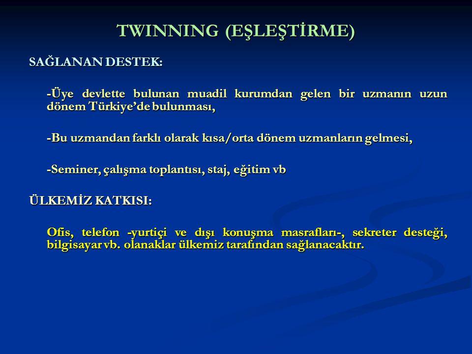 TWINNING (EŞLEŞTİRME)