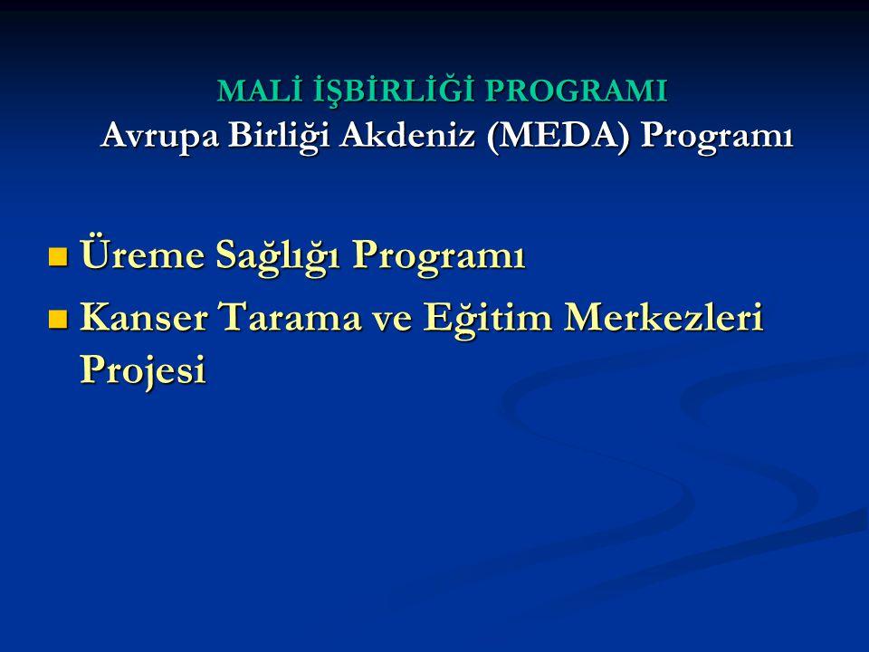 MALİ İŞBİRLİĞİ PROGRAMI Avrupa Birliği Akdeniz (MEDA) Programı