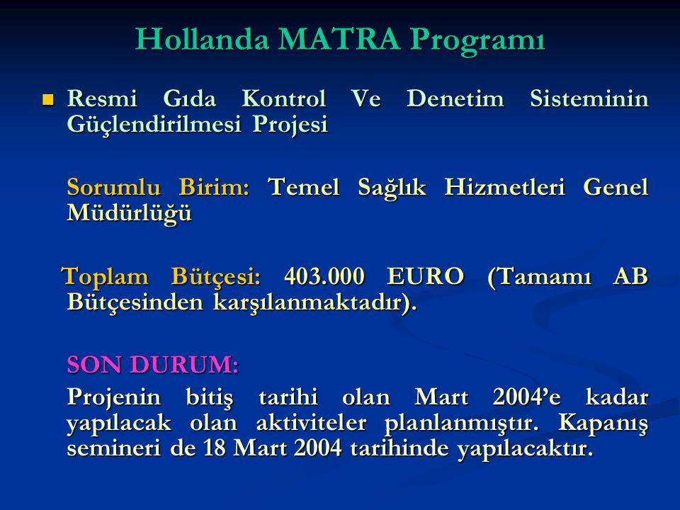 Hollanda MATRA Programı