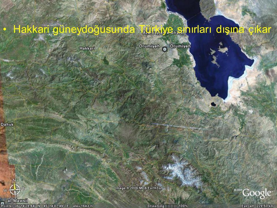 Hakkari güneydoğusunda Türkiye sınırları dışına çıkar