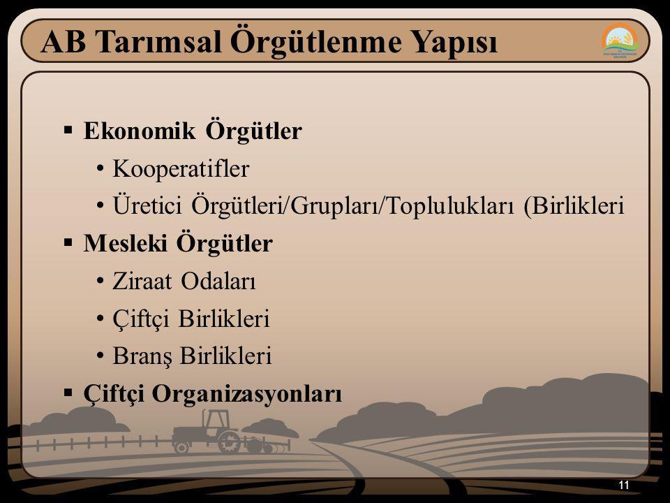 AB Tarımsal Örgütlenme Yapısı