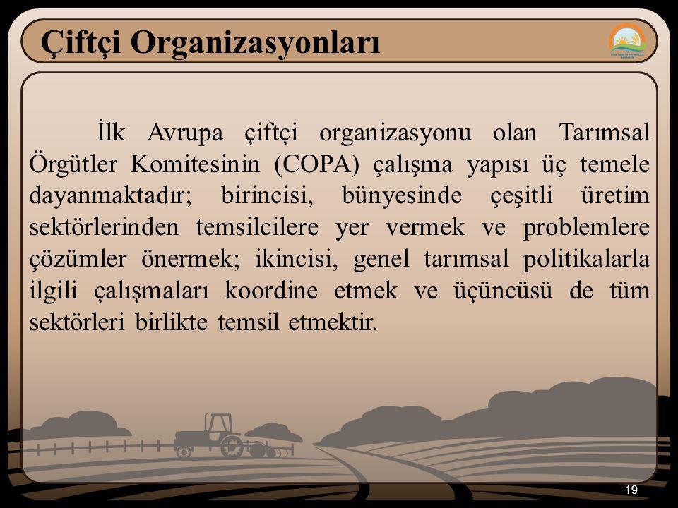 Çiftçi Organizasyonları