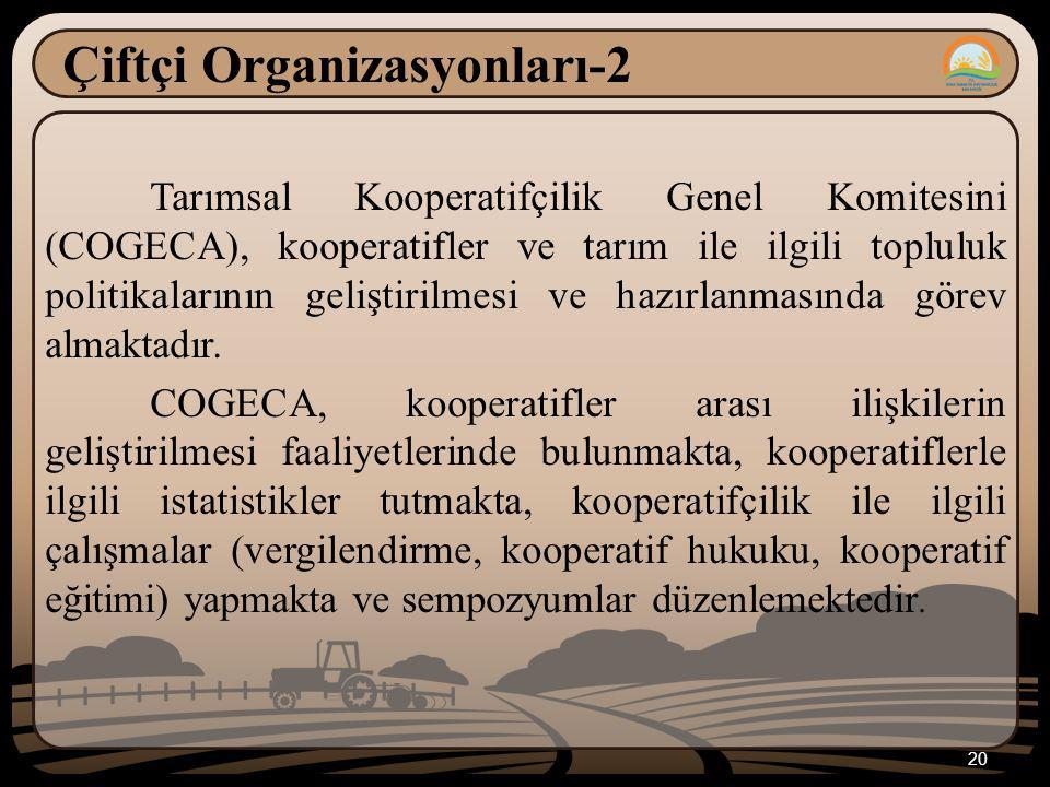 Çiftçi Organizasyonları-2